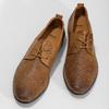 Nieformalne skórzane półbuty zperforacją bata, brązowy, 856-3601 - 16