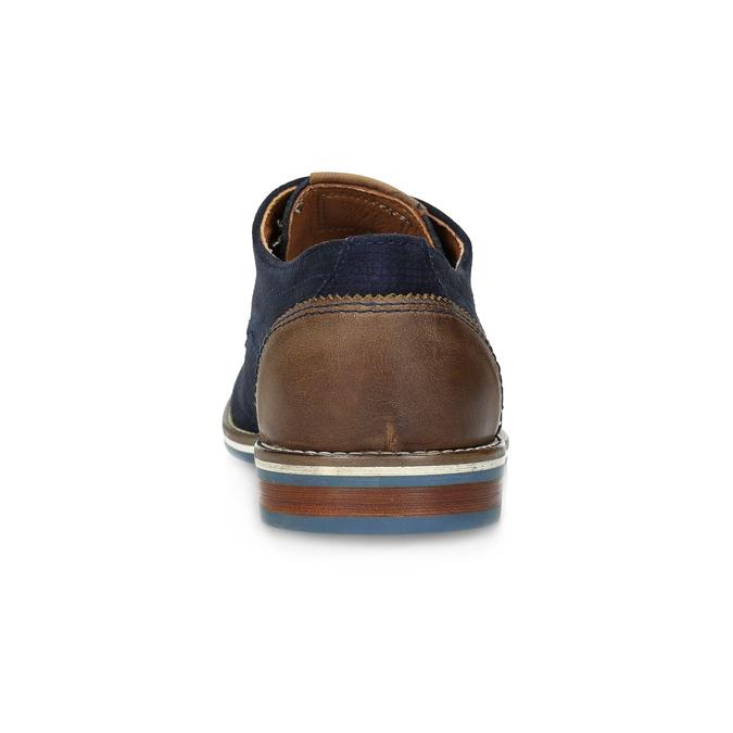 Skórzane półbuty zpodeszwą wpaski bata, niebieski, 823-9600 - 15