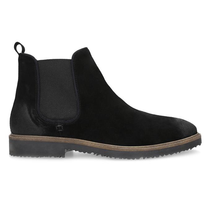 Zamszowe buty typu chelsea bata, czarny, 823-6628 - 19