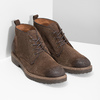 Skórzane obuwie wstylu chukka bata, brązowy, 823-4627 - 26
