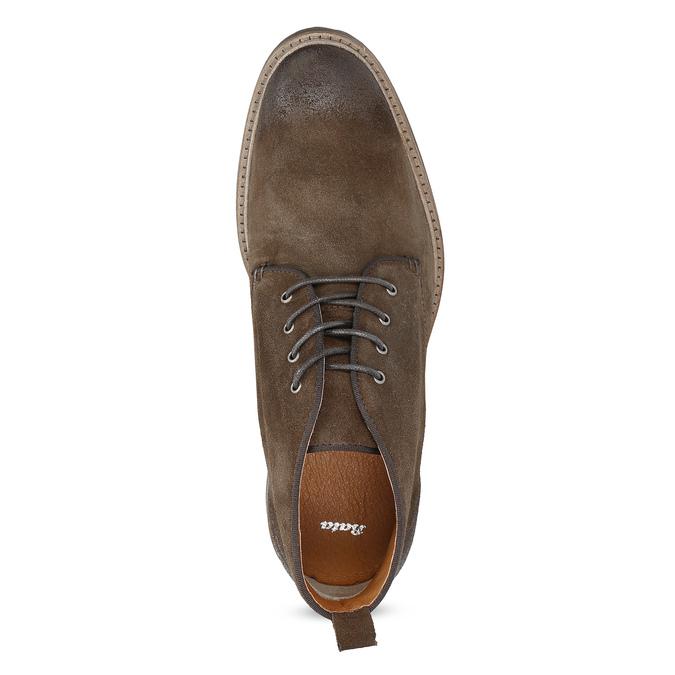 Skórzane obuwie wstylu chukka bata, brązowy, 823-4627 - 17