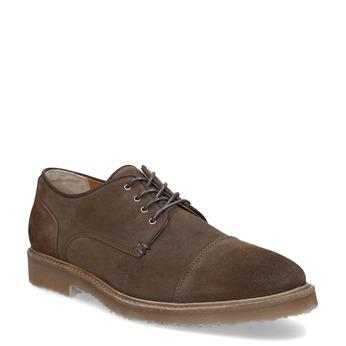 Brązowe zamszowe półbuty bata, brązowy, 823-4626 - 13