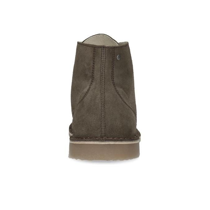 Zamszowe obuwie za kostkę bata, khaki, 823-7629 - 15