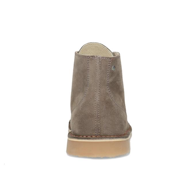 Skórzane buty męskie za kostkę bata, brązowy, 823-8629 - 15