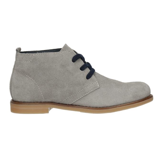Skórzane buty pustynne dla dzieci mini-b, szary, 313-3144 - 26