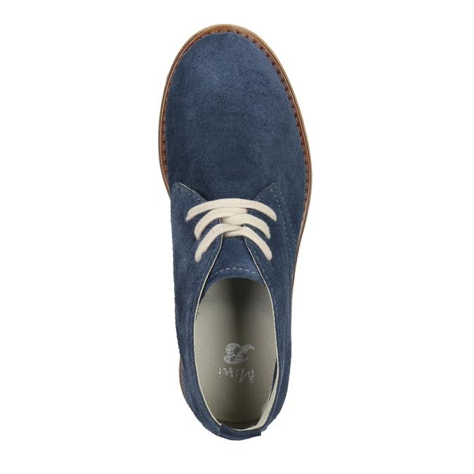 Skórzane buty pustynne dla dzieci mini-b, niebieski, 313-9144 - 15