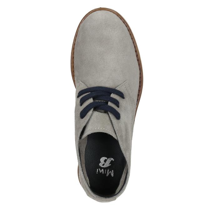 Skórzane buty pustynne dla dzieci mini-b, szary, 313-3144 - 15