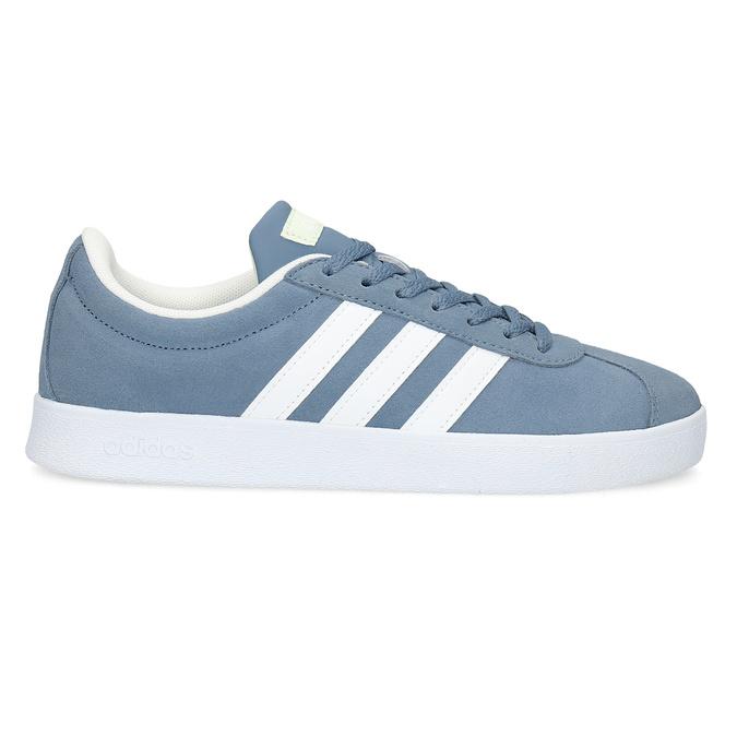 Błękitne zamszowe trampki adidas, niebieski, 503-2379 - 19
