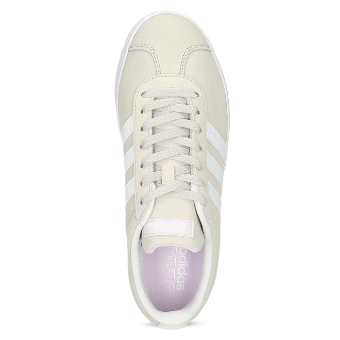Beżowe zamszowe trampki adidas, beżowy, 503-8379 - 17