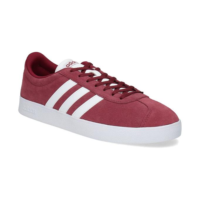 Czerwone zamszowe trampki męskie adidas, czerwony, 803-5379 - 13