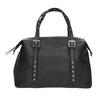 Czarna torebka zmetalowymi ćwiekami bata, czarny, 961-6834 - 26
