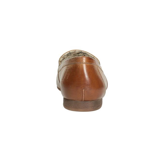 Brązowe mokasyny damskie zwędzidłami bata, brązowy, 516-3615 - 16
