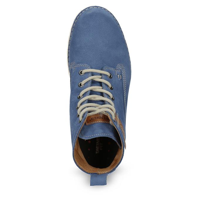 Skórzane botki damskie weinbrenner, niebieski, 594-9666 - 17