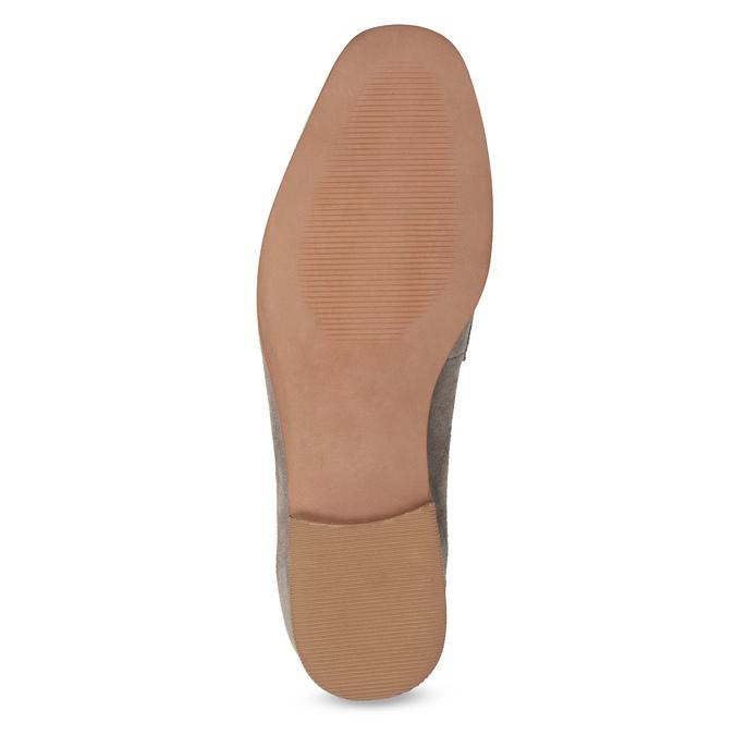 Skórzane mokasyny damskie zpaskiem bata, 516-3616 - 18