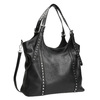 Czarna torba zodpinanym paskiem bata, czarny, 961-6835 - 13