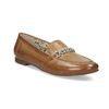 Brązowe mokasyny damskie zwędzidłami bata, brązowy, 516-3615 - 13