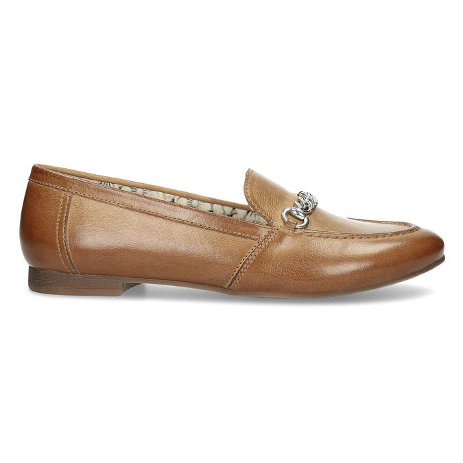 Brązowe mokasyny damskie zwędzidłami bata, brązowy, 516-3615 - 19