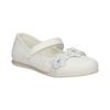 Białe baleriny zkwiatkami ibrokatem mini-b, biały, 229-1106 - 13