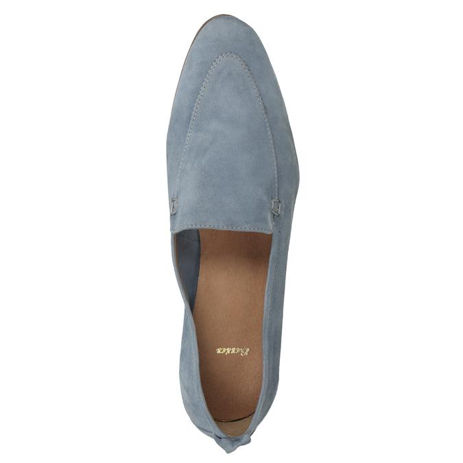 Nieformalne zamszowe mokasyny bata, niebieski, 516-9618 - 17