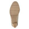 Czółenka oszerokości H, zfakturą skóry wężowej bata, beżowy, 721-8618 - 17