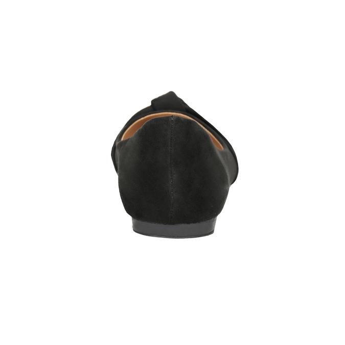 Baleriny damskie zkokardami bata, czarny, 529-6637 - 16