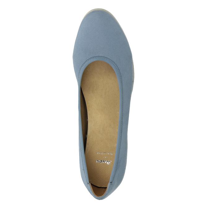 Niebieskie czółenka damskie na koturnach bata, niebieski, 629-9636 - 17