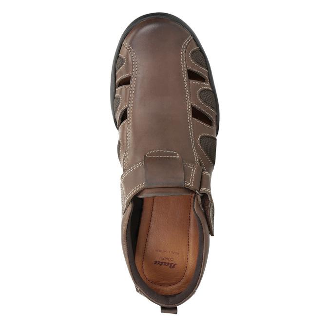 Skórzane sandały męskie comfit, brązowy, 856-4605 - 17