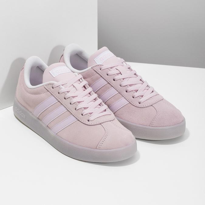 Różowe zamszowe trampki adidas, różowy, 503-5579 - 26