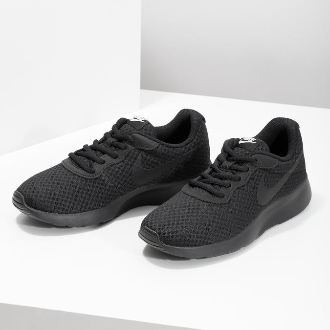 Czarne trampki damskie wsportowym stylu nike, czarny, 509-0157 - 16