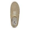 Skórzane trampki ze zdobieniami brogue mini-b, beżowy, 313-3191 - 17