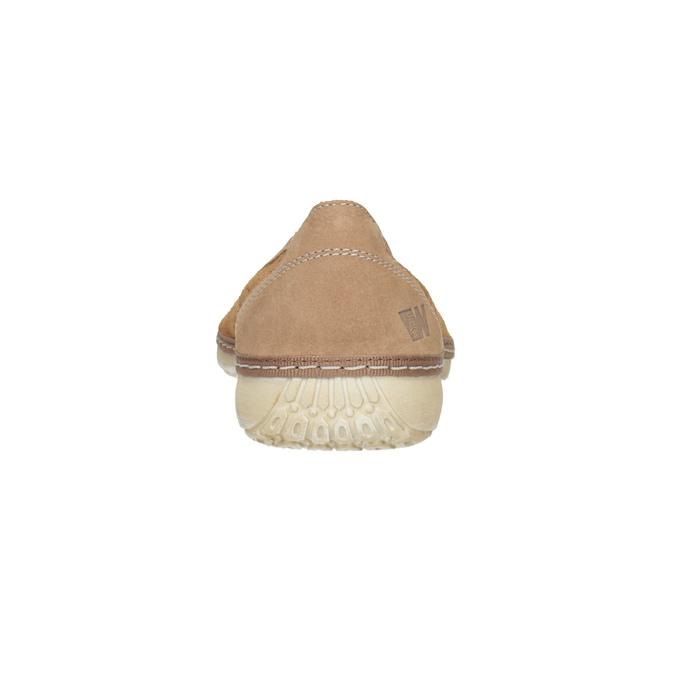 Skórzane baleriny zperforacją weinbrenner, brązowy, 546-3614 - 15