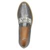 Srebrne mokasyny zperełkami bata, srebrny, 511-6610 - 17