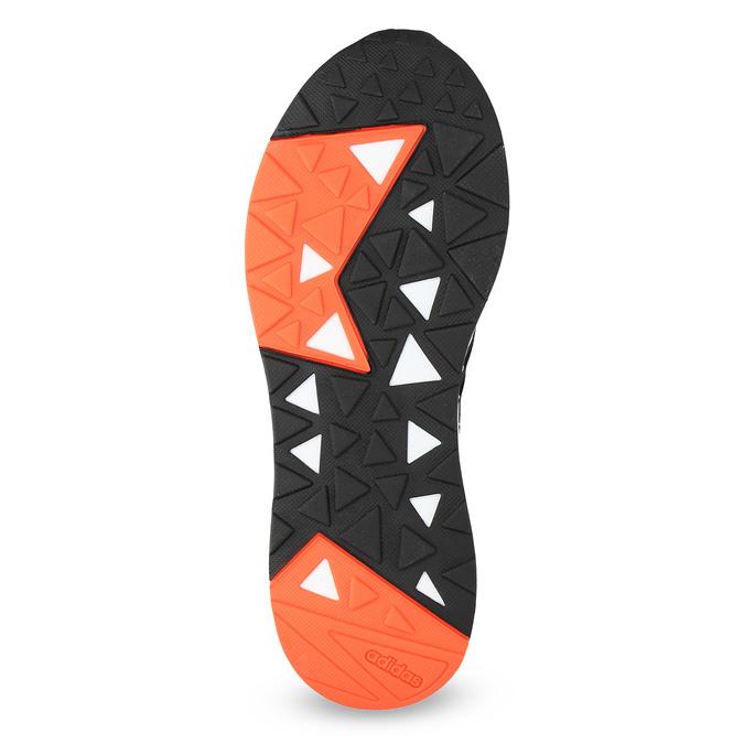 Czarne trampki męskie zpomarańczowymi detalami adidas, czarny, 809-6579 - 18
