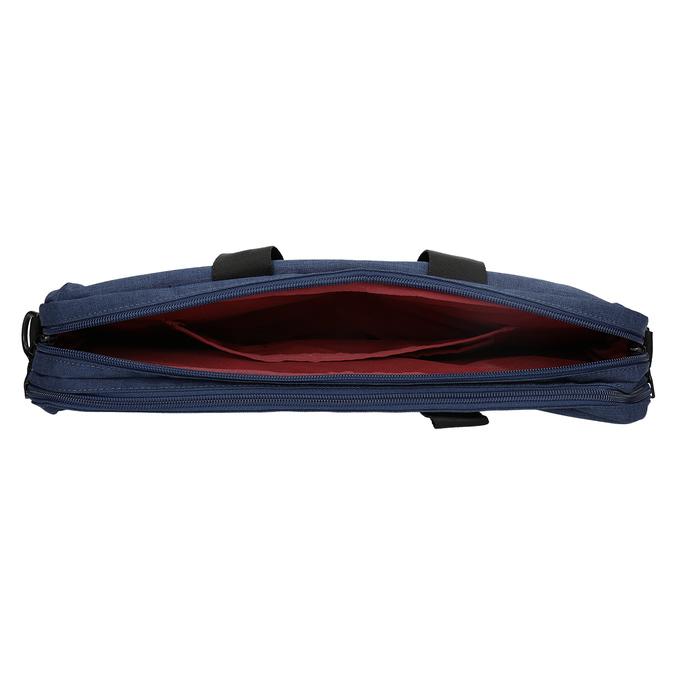 Czarno-granatowa torba na laptopa roncato, niebieski, 969-9698 - 15