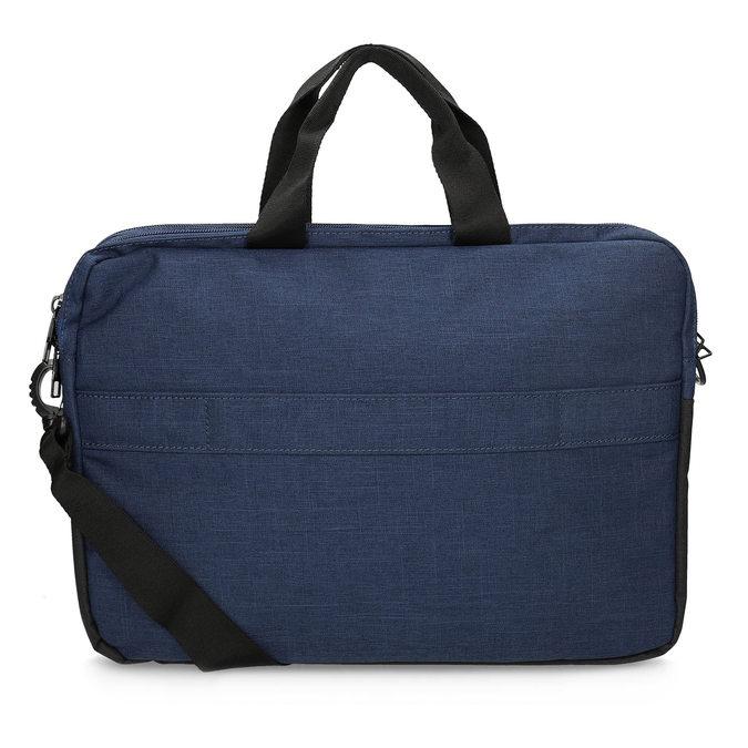Czarno-granatowa torba na laptopa roncato, niebieski, 969-9698 - 16