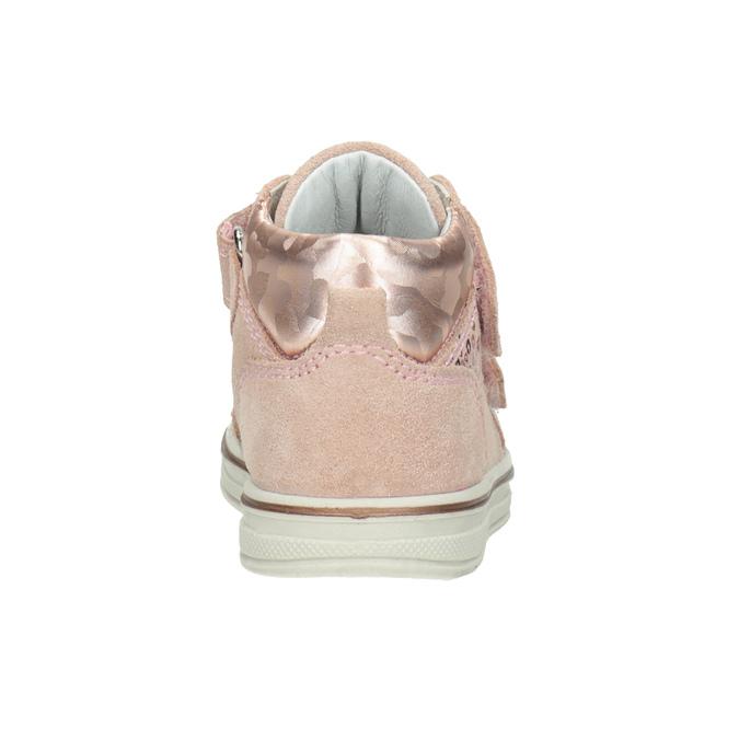Skórzane botki dziecięce dla dziewcząt bubblegummer, różowy, 123-5606 - 16