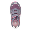 Skórzane trampki dziewczęce na rzepy mini-b, różowy, 223-9604 - 15