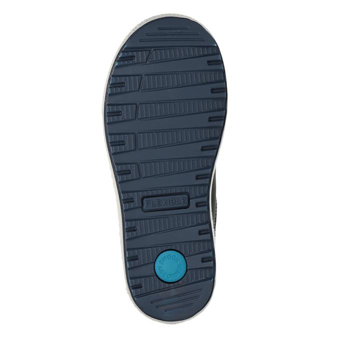 Niebieskie skórzane trampki chłopięce mini-b, niebieski, 416-9603 - 17