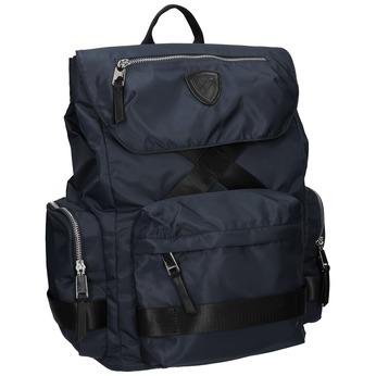 Niebieski plecak męski zmateriału tekstylnego, niebieski, 969-9677 - 13