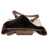 Beżowo-brązowa skórzana torebka bata, beżowy, 963-8194 - 15
