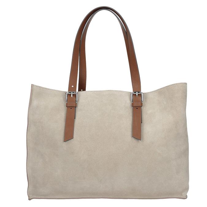 Beżowo-brązowa skórzana torebka bata, beżowy, 963-8194 - 26