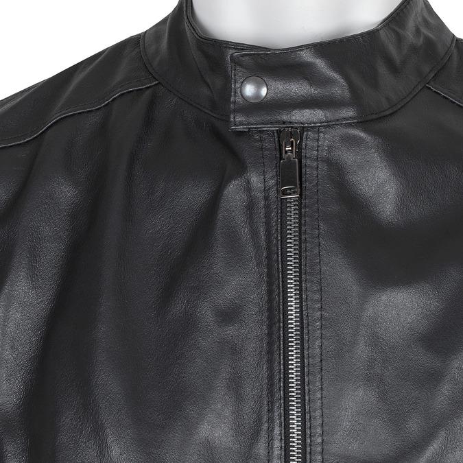 Czarna skórzana kurtka męska bata, czarny, 974-6134 - 16