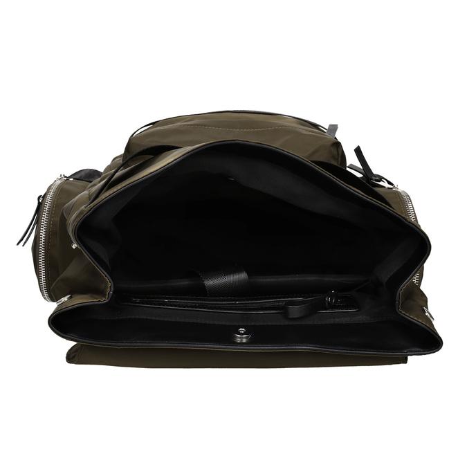 Plecak męski zmateriału tekstylnego wkolorze khaki, khaki, 969-3677 - 15