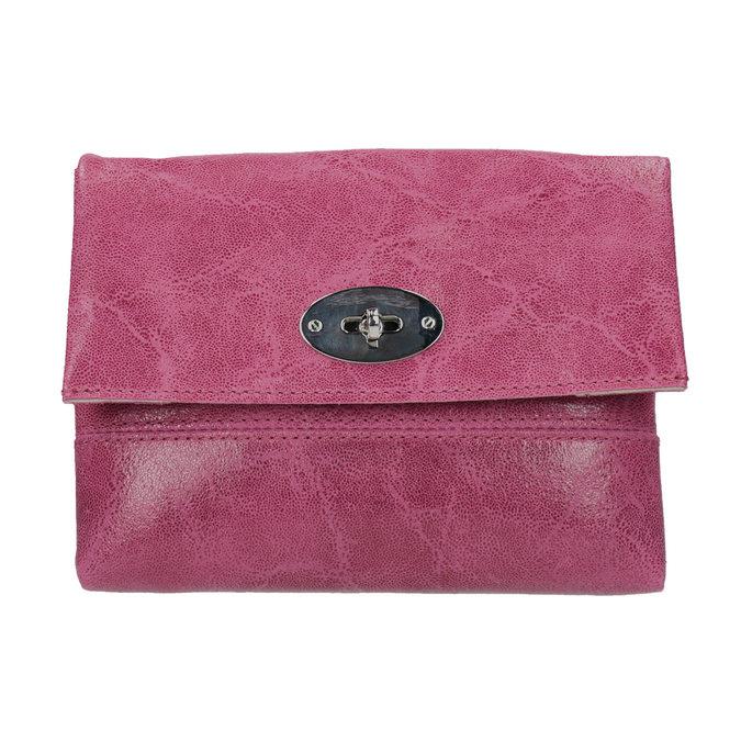 Skórzana torebka typu crossbody złańcuszkiem bata, czerwony, 964-5249 - 26