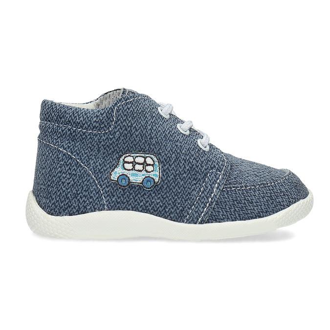 Trampki dziecięce za kostkę bata, niebieski, 113-9609 - 19