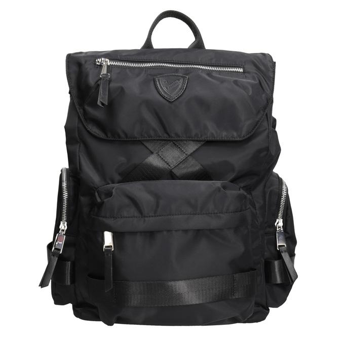 Czarny plecak męski zmateriału tekstylnego atletico, czarny, 969-6677 - 26