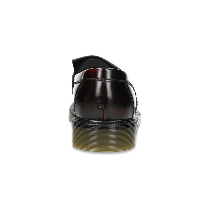 Bordowe mokasyny nakontrastowej podeszwie bata, czerwony, 814-5176 - 15