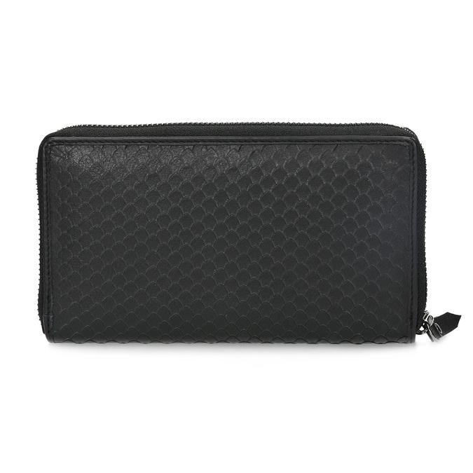 Skórzany portfel damski ofakturze łusek gabor-bags, czarny, 946-6002 - 16