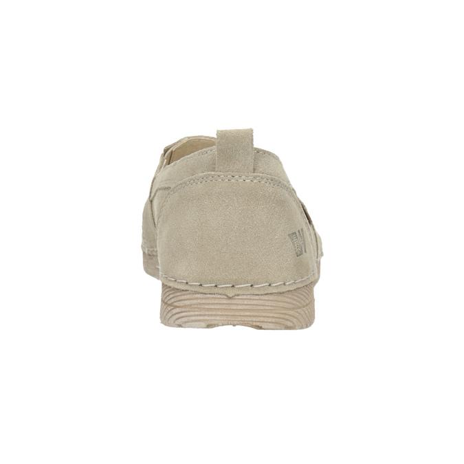 Skórzane slip-on damskie weinbrenner, beżowy, 536-8607 - 15