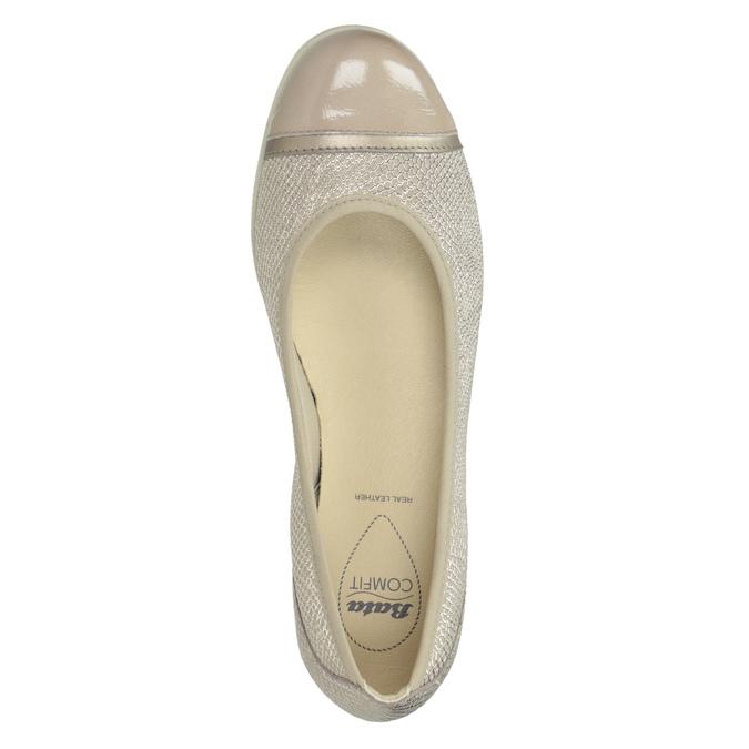 Skórzane baleriny zlakierowanymi noskami comfit, 526-8661 - 15